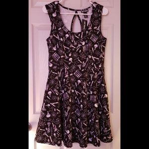 Black Sleveless Dress HOT TOPIC